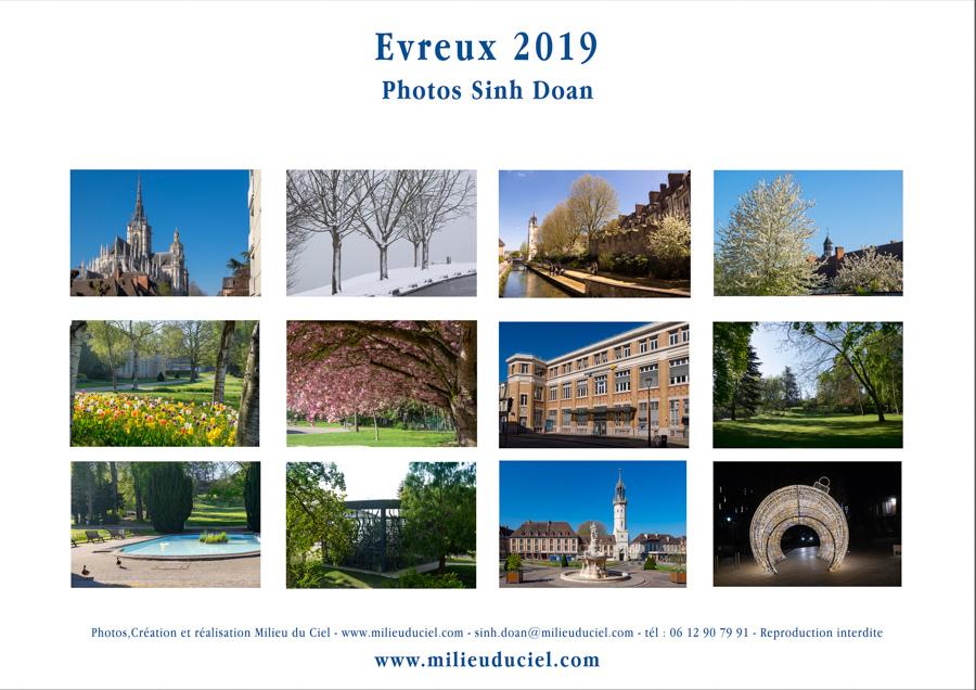 Calendrier milieuduciel evreux 2019