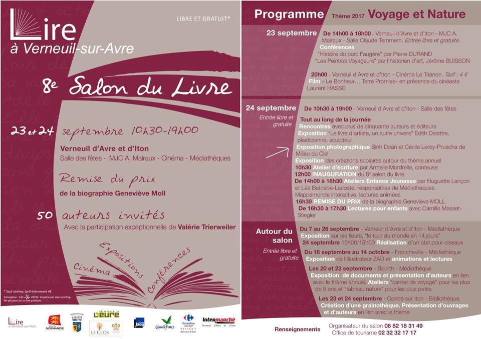 Salon du livre Geneviève Moll, Verneuil sur Avre